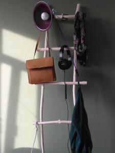 Sierladder van natuurlijk hout (accessoire: natuurlijk, organisch en landelijk ogend)