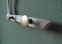 Hangende kapstok van natuurlijk hout (accessoire: natuurlijk, organisch en landelijk ogend)
