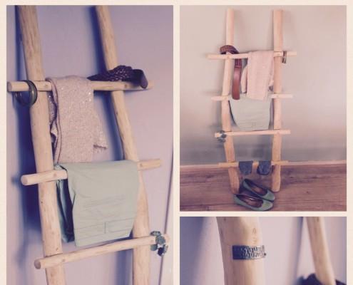 De klant heeft de ladder een mooie plek gegeven