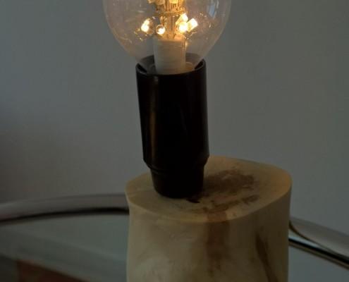 Dit lampje heb ik gemaakt om onder/in de boomstam te plaatsen