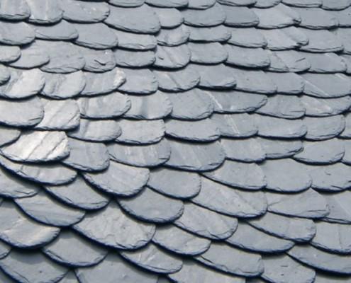 Een dak van leistenen