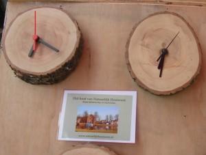 De bezoekers op de herfstdag konden duidelijk zien waar het hout vandaan kwam