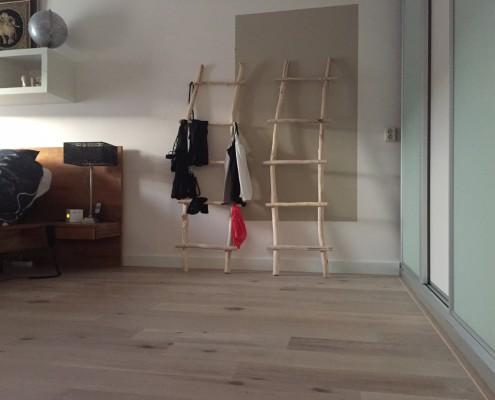 De ladders hebben een mooie ruime plek gekregen