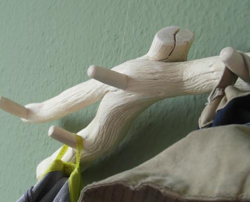 Kapstok van natuurlijk houtwerk (accessoire)