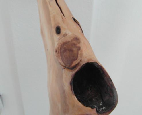 Op deze foto zie je hoe doorleefd het hout is